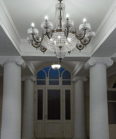 гостиница Пожарского люстра Тверьстекло