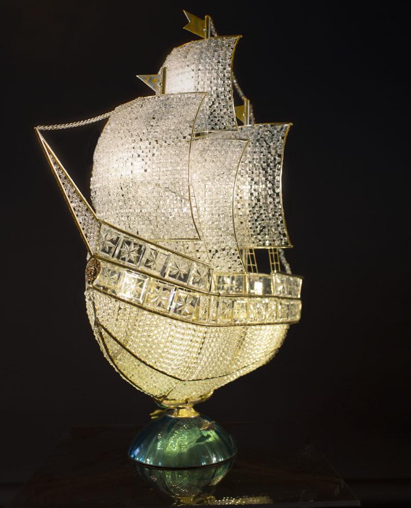лампа настольная Хрустальный корабль